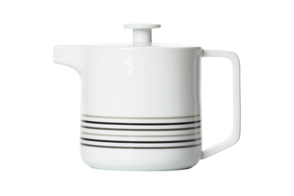 Teekanne Gourmet mit Teesieb Weiß
