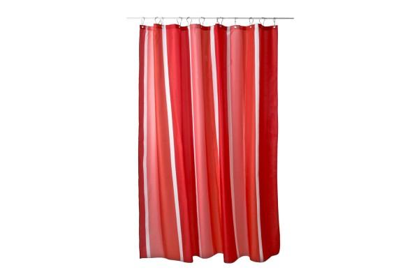 Duschvorhang Stripe Rot